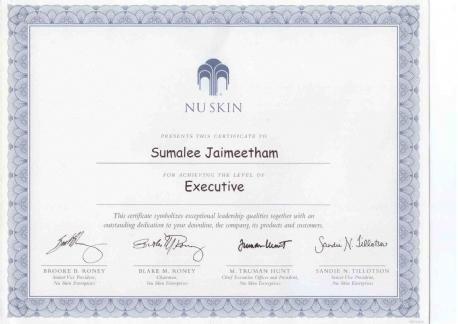 Diploma Nu Skin Mandarin Spa Nijmegen Uden